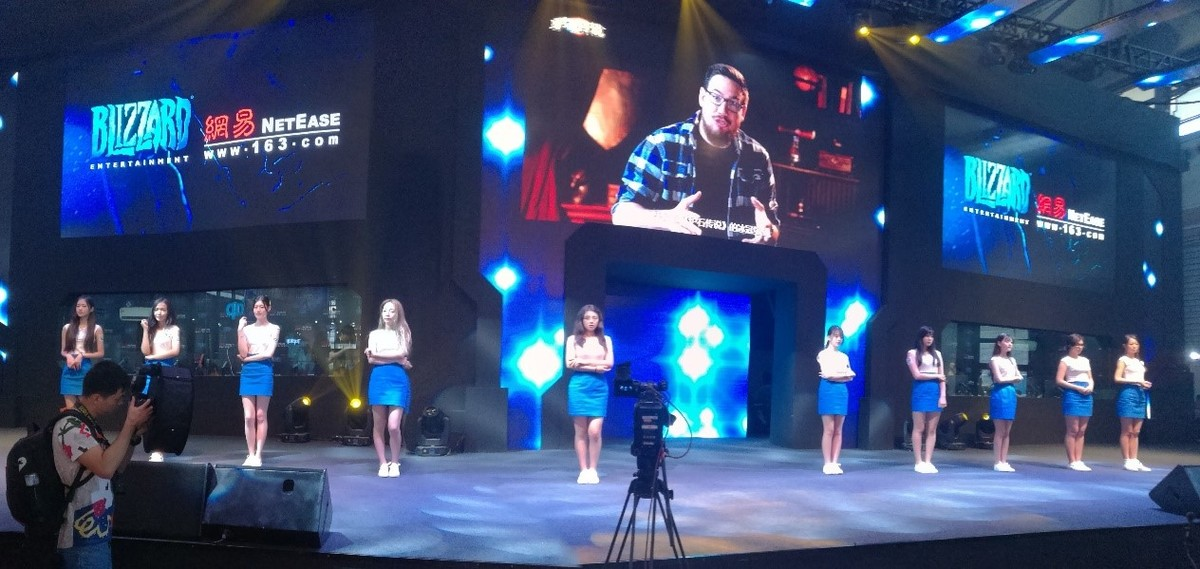 Blizzard Pavilion substage with show girls