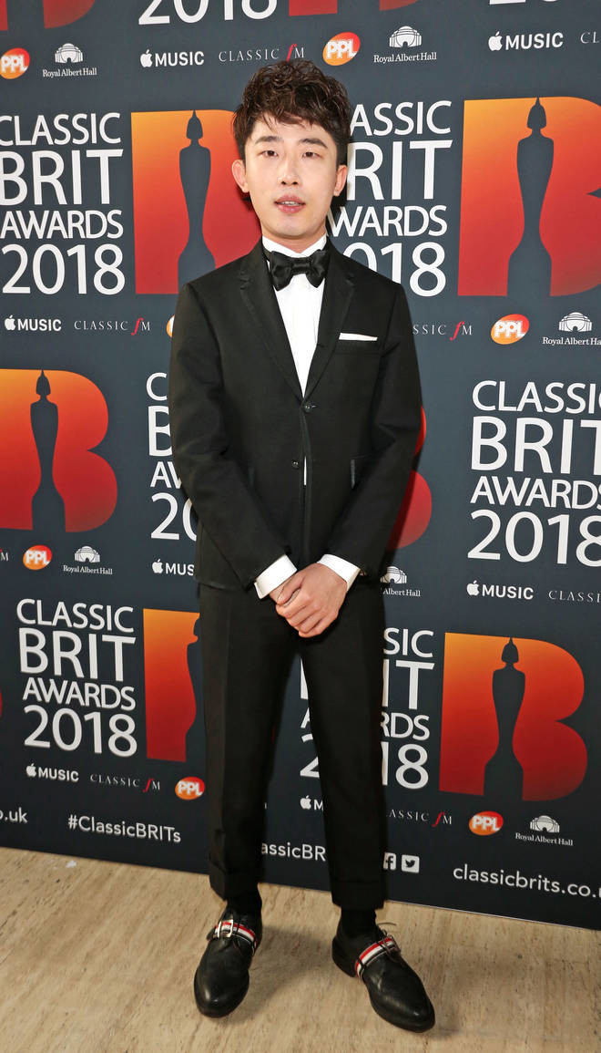 Ji Liu arrives at the Red Carpet at the Classic Brit Awards 2018
