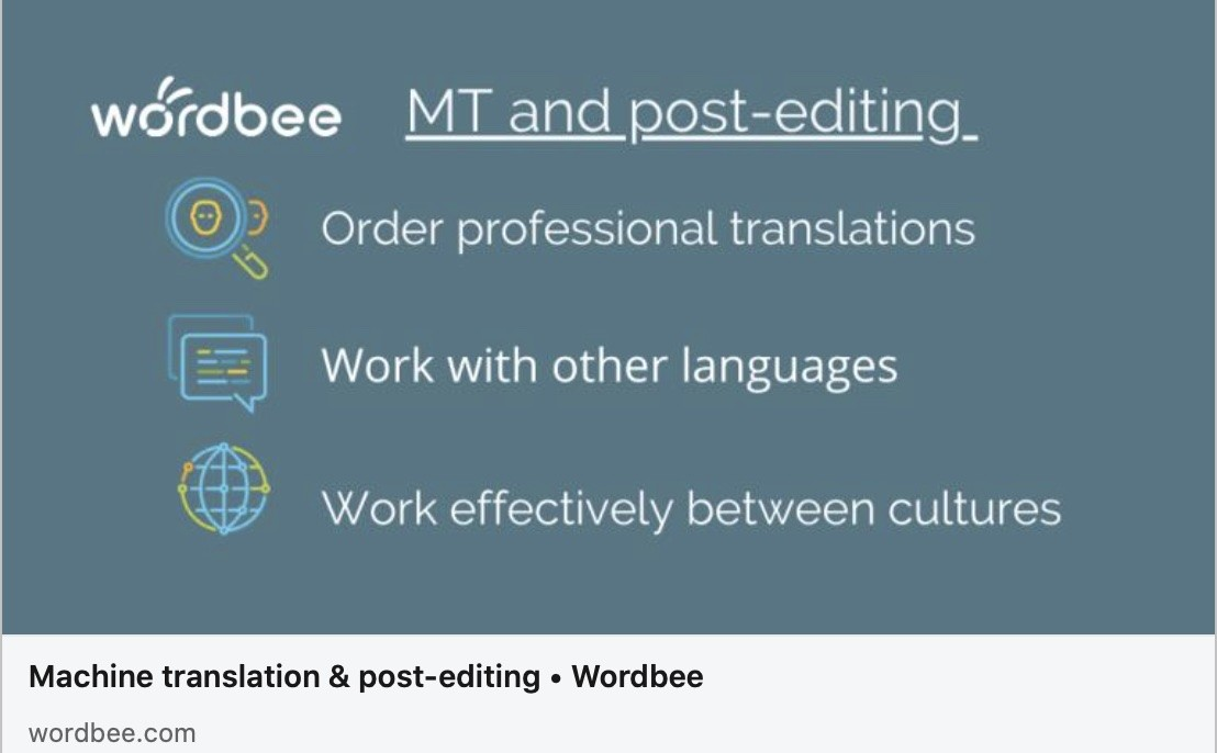 Machine translation and post-editing workflows