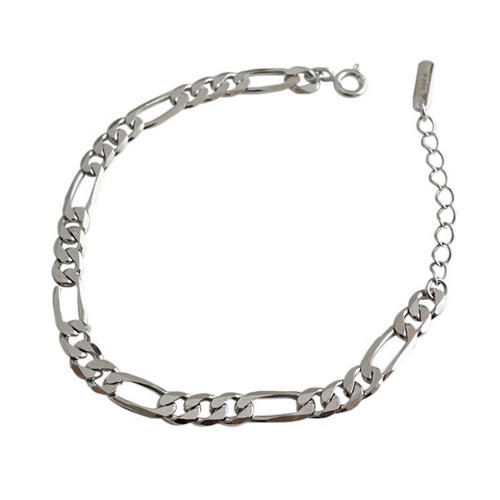 Chic lady style jewelry classic chain bracelet in 925 sterling silver