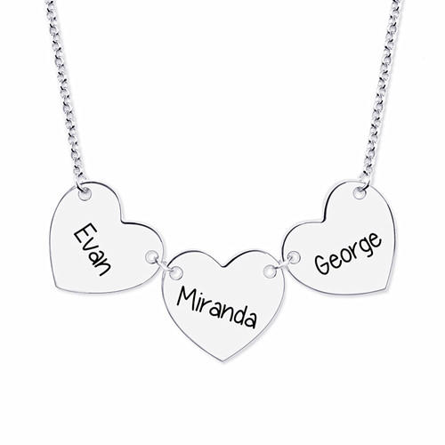 Women's name engraved heart pendant body jewelry manufacturer supplier