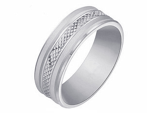 Multifaceted diamond cut jewelry manufacturer sterling silver wedding rings supplier