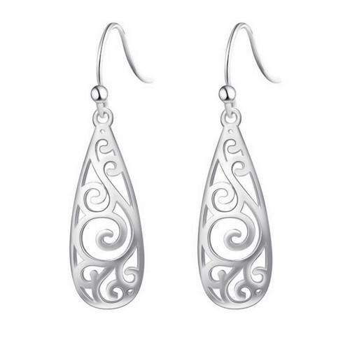 Long dangle vase-shaped drop earrings sterling silver earrings hoops wholesale