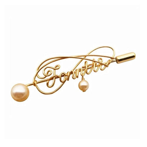 14K gold filled or 925 sterling silver wire custom handwriting jewellery personalized signature brooches with pearl and birthstone letter cursive name breastpin