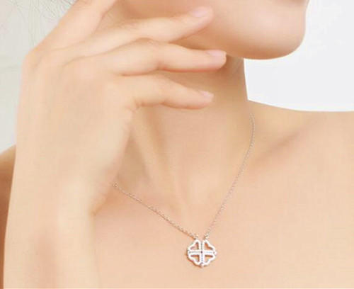 925 sterling silver convertible necklace pedant with AAA zircon