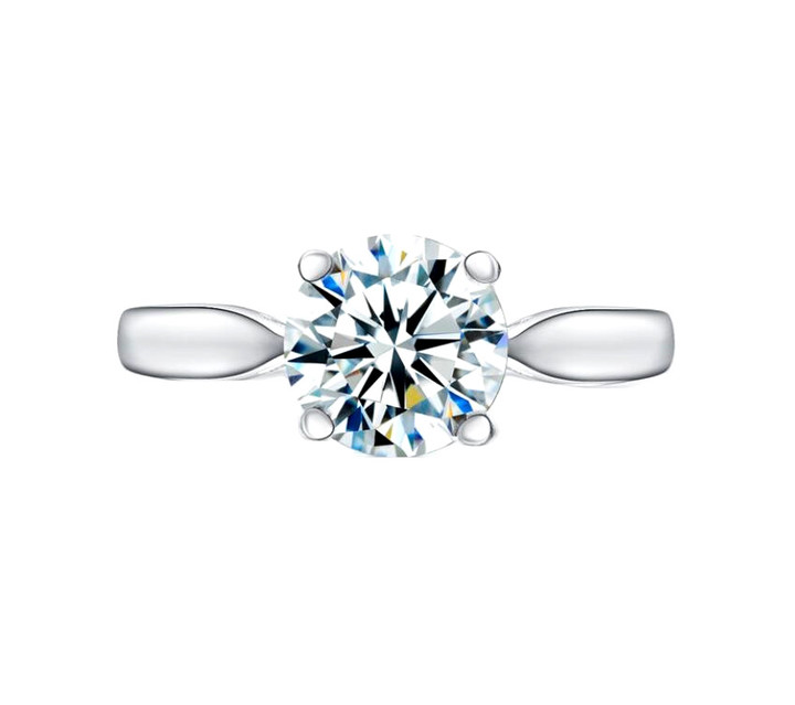 Classic 2 carat diamond wedding rings for women 925 sterling silver finger ring