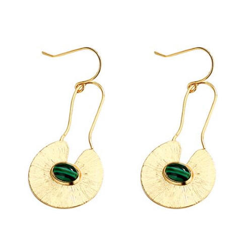Custom design women fashion jewellery gold plated 925 sterling silver big drop earrings