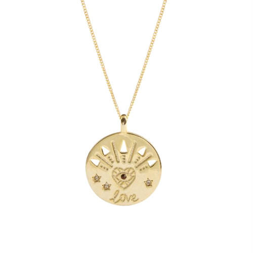 s925 silver trendy fine jewelry wholesale coin disc pendant necklace for women