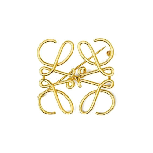 Abstraction pattern geometrical hollow out wire brooches fashion street snap jewels