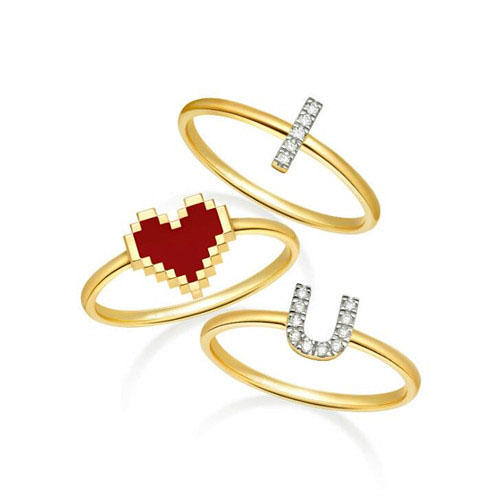 High end wedding jewelry manufacturer 18K gold plated band ring supplier 925 sterling silver finger diamond ring wholesale china