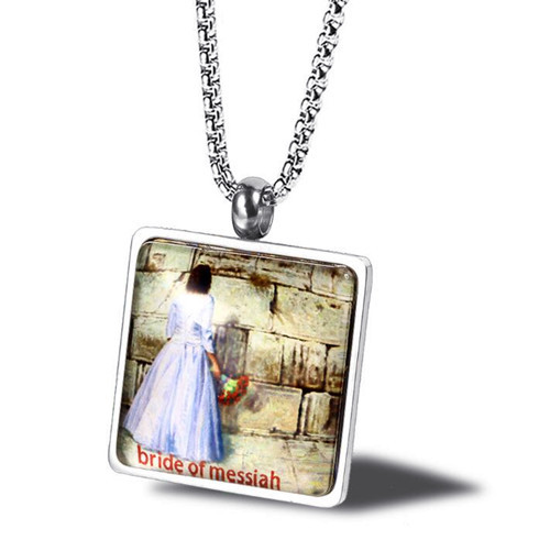 Painting jewellery collection custom Messianic bridal drawing pendant necklace for men