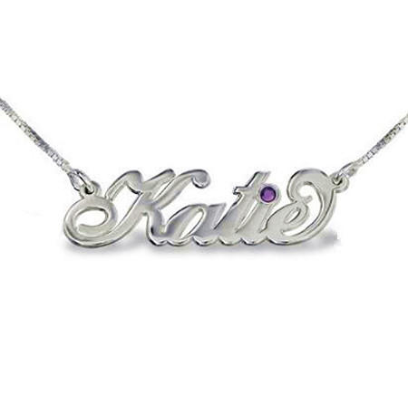 Custom handmade silver name jewelry wedding gift