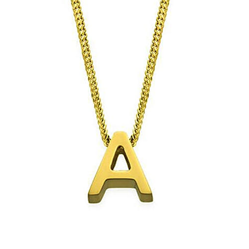 Gold-color initial jewelry letter pendant necklace personalized jewellery wholesale in China