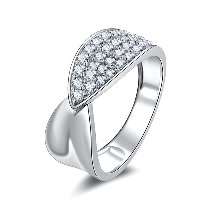 Special design diamond luxury ring for women 925 sterling silver wedding jewellery wholesale