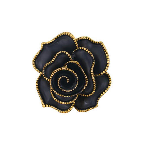 Antique style fashion flower jewels personalized black rose brooch for women