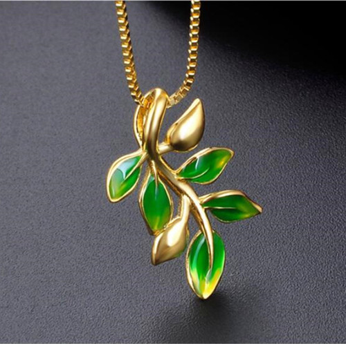 Olive branch silver pendant necklace china silver jewelry manufacturers