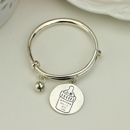 Custom photo engraved jewelry image cuff bracelets personalised photo jewelry bracelet wholesale in silver jewellery