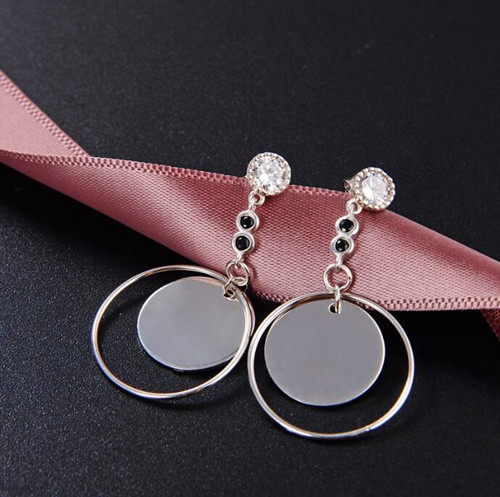 flat circle earrings for gilrs jewelry gift new design