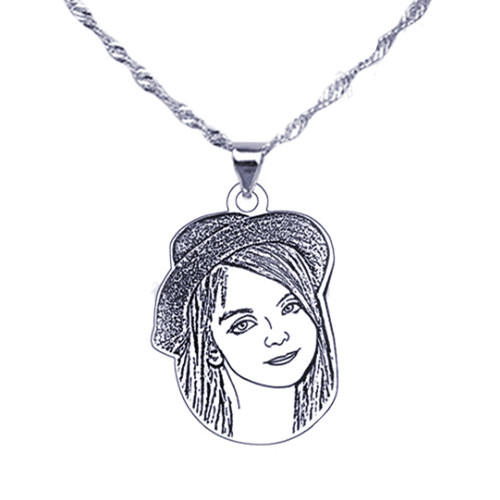 Personal jewelry dog tag image pendant necklace steel jewelry wholesale in China