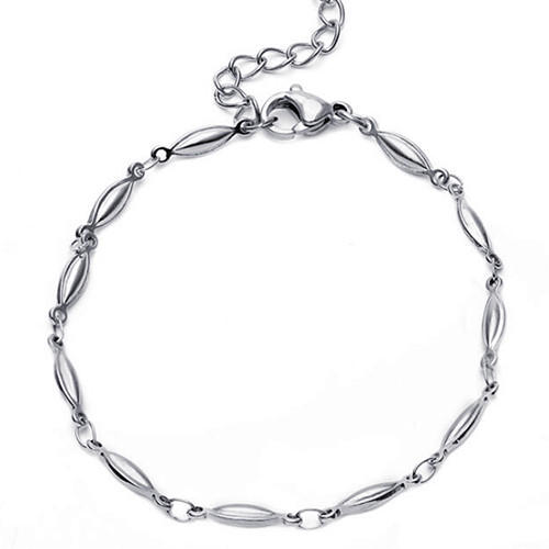 Simple style top quality stainless steel women jewelry silver beaded chain necklace OEM ODM