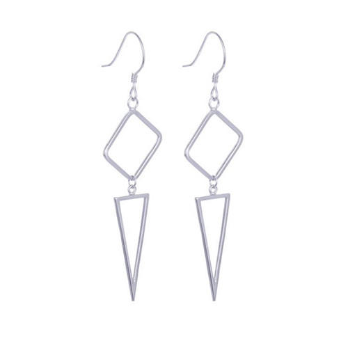 Sterling silver geometric triangle earrings upside down triangle earrings costume jewelry earrings wholesale
