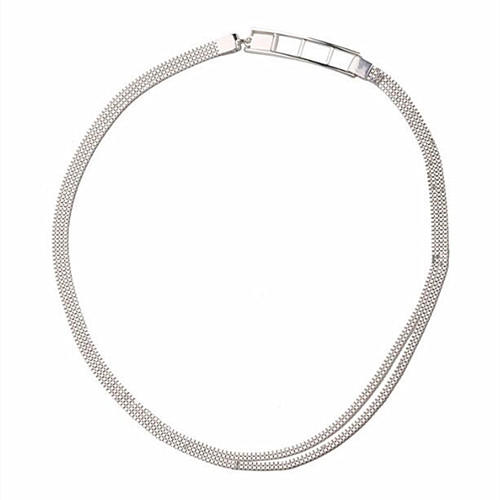 Unique design simple classic 925 silver chain choker necklace wholesale