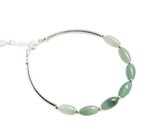 Cool natural jade stone charm bracelet 925 sterling silver green jade stone necklace jadestone beaded jewellery bracelet manufacturer china wholesale online