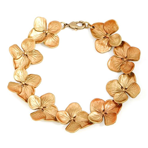 Stylish hydrangea jewelry wholesale stoving varnish flower bracelet