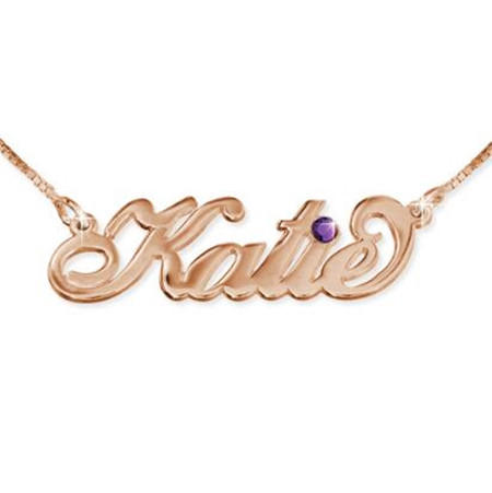 Your style custom name necklace personalized with birthstone customized name charm necklace jewelry gift for women