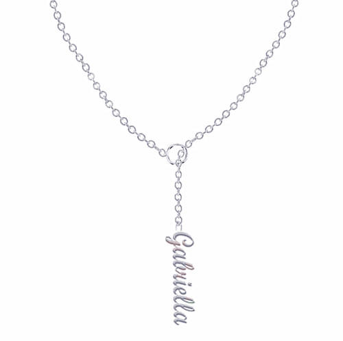 Cross necklace with names engraved 925 sterling silver jewelry manufacturer