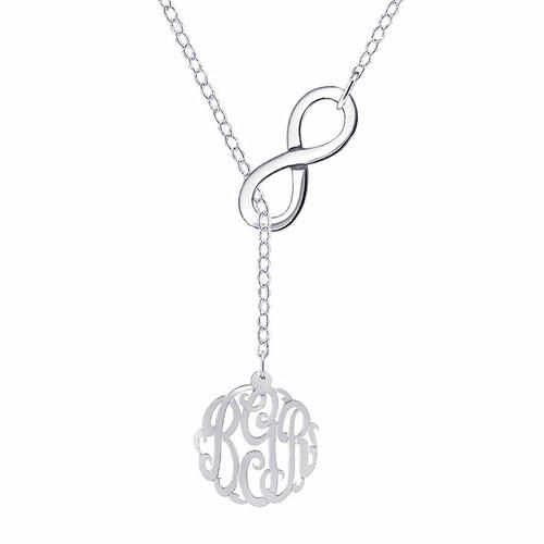 personalized anchor pendant monogram necklace silver rings supplier