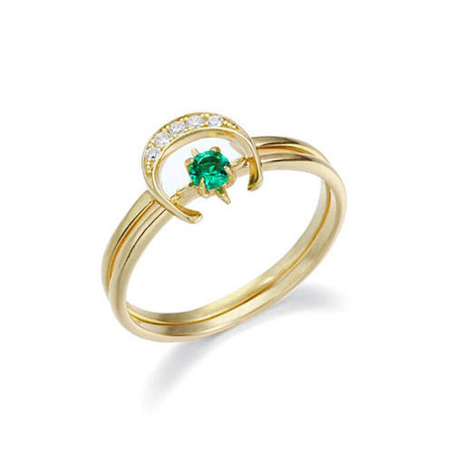 925 sterling silver 2 in one convertible diamond ring set green cubic zirconia double band finger ring with diamonds for women jewelry wholesale online store company website