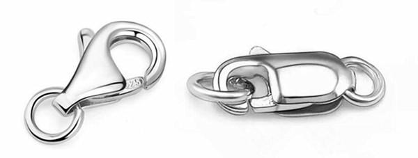 Custom made lobster clasp for 925 sterling silver fashion fine jewelry wholesale china