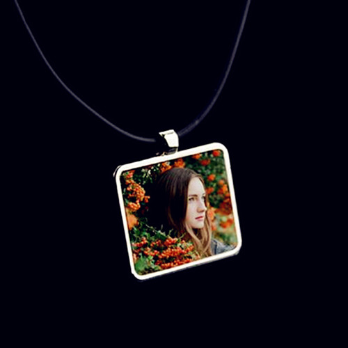 DIY custom jewelry wholesale square shaped colorful photo jewelry