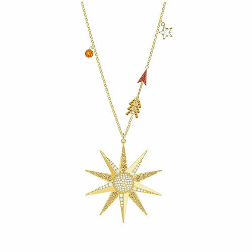 Women custom luxury jewelry gold plated delicate star charm necklaces