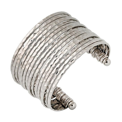 Classic open design fashion jewelry wholesale wide silver bangles for women