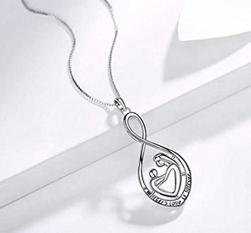 Forever love necklace in sterling silver china wholesale fashion jewelry manufacturers
