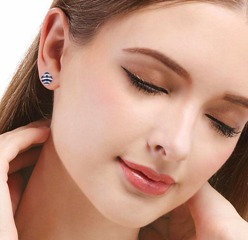 large shell earrings studs real silver earrings studs for women wholesale