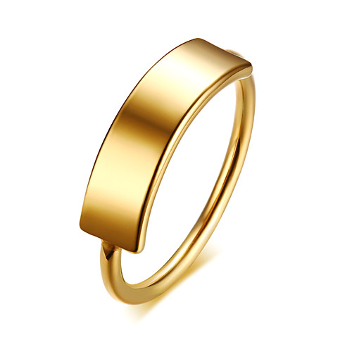 Wholesale gold plating customized jewels trendy name engravable rings for women