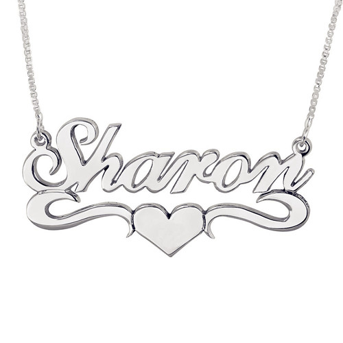 Custom made nameplate necklaces supplier in china