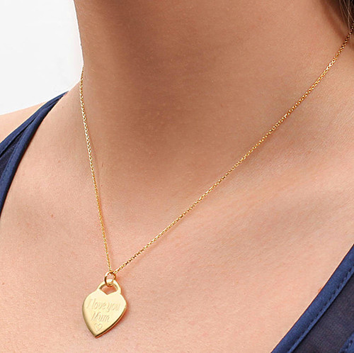 Heart photo pendant necklace gold mom gift ┃ Silver photo jewelry gold heart photo necklace