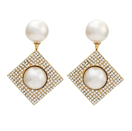 Vintage creative design women jewellery big fashion irregular pearl earrings