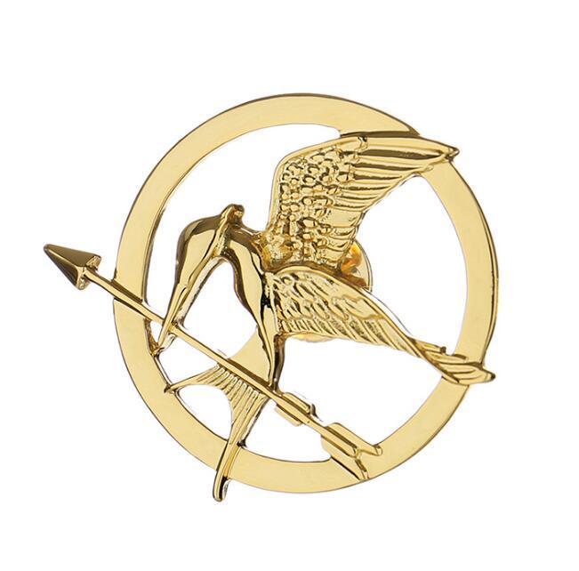 The thorn birds circle brooch for unisex 18k gold plated fashion hat accessories wholesale supplier china