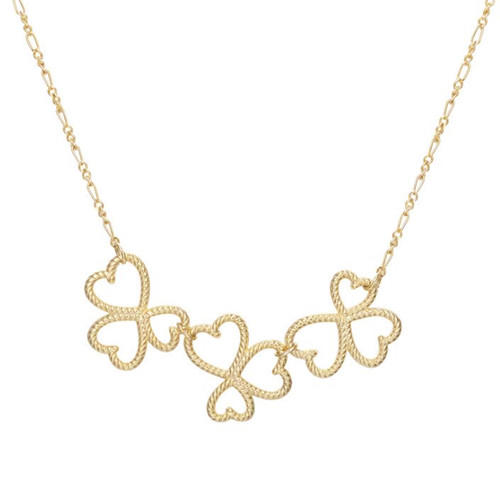 Fine jewelry wholesale sterling silver twisted clover pendant necklaces