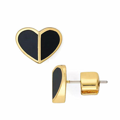 18K gold plated brass jewelry OEM wholesale classic heart studs earrings