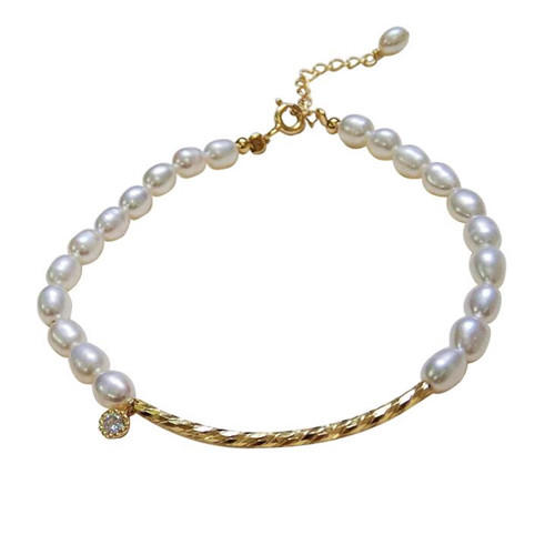925 sterling silver and pearl bead bracelet charms accessories beaded ankle bracelets yellow gold plated silver chain bead jewelry wholesale company custom bracelet distributors