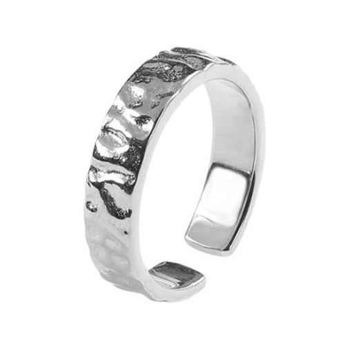 Irregular open design jewelry silver tinfoil surface band rings in gold & silver