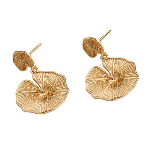 Natural plant fashion jewellery s925 sterling silver lucid ganoderma earrings for women