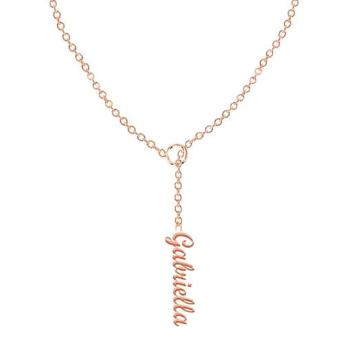 Gold plated personalized with any names necklace 925 silver pendant supplier