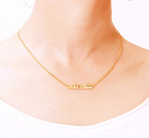 Women fashion fine jewelry vendor personalized city landscape necklace supplier wholesale china
